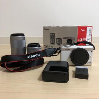 Canon - Canon EOS m100 ホワイト ダブルズームキット