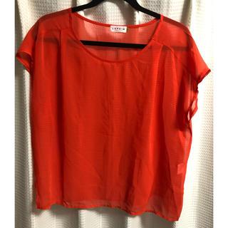 レプシィム(LEPSIM)のオレンジ 透け感 ブラウス(シャツ/ブラウス(半袖/袖なし))