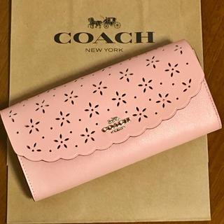 COACH - 新品・正規品♡coach 花柄 ピンク 長財布