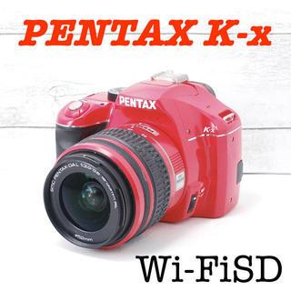 ペンタックス(PENTAX)の❤️希少レッドカラー❤️スマホ転送❤️PENTAX K-x(デジタル一眼)