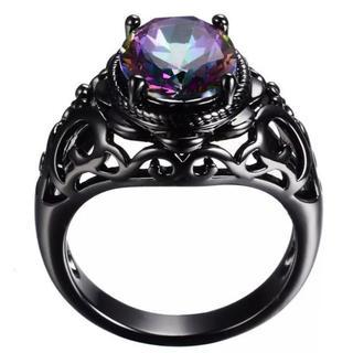 特価高品質!エレガントなダイヤ風クリスタルのリング 12~14号相当(リング(指輪))