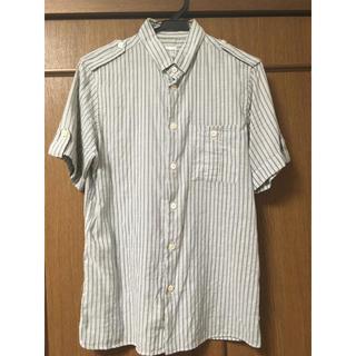 アルマーニ コレツィオーニ(ARMANI COLLEZIONI)のコットン68%ラミー32%の半袖シャツです。(シャツ)