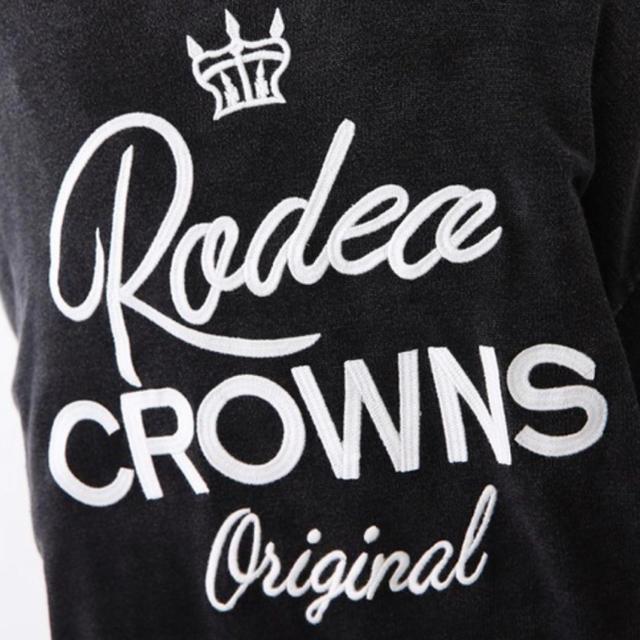RODEO CROWNS WIDE BOWL(ロデオクラウンズワイドボウル)のロデオ★加工ニット カーディガン/ブラック レディースのトップス(カーディガン)の商品写真