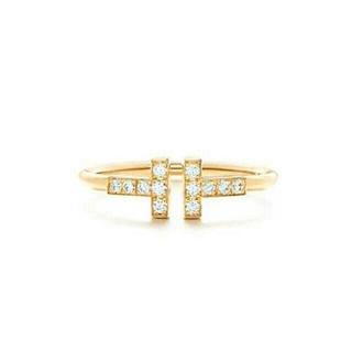 ティファニー(Tiffany & Co.)の❤️ ティファニー ダイヤ Tワイヤー リング 指輪12号(リング(指輪))