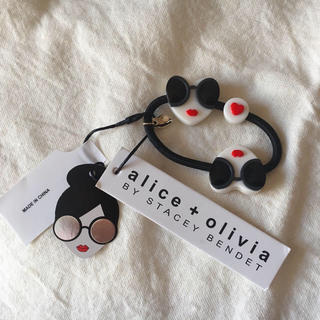 アリスアンドオリビア(Alice+Olivia)のalice olivia 両面ヘアゴム 新品(ヘアゴム/シュシュ)