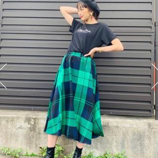 ロデオ★ チェック フレア スカート/グリーン