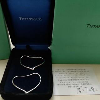 Tiffany & Co. - ティファニー オープンハート フープピアス Mサイズ★