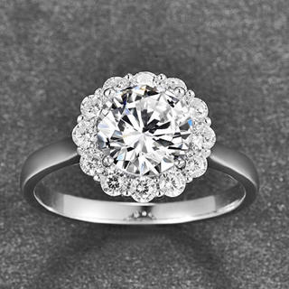 SWAROVSKI - エタニティリング 花指輪  スワロフスキーキュービックジルコニア シルバー