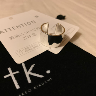 タケオキクチ(TAKEO KIKUCHI)のワイドメタルリング(リング(指輪))