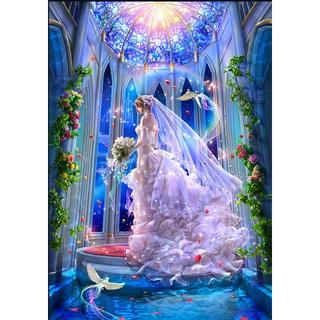 A3サイズ ウエディング 花嫁 全面貼り付タイプ ダイヤモンドアート(アート/写真)