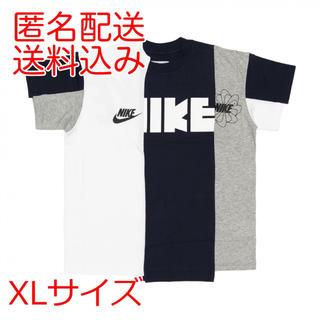 サカイ(sacai)のNIKE x sacai wmns tee White / Navy XL(Tシャツ(半袖/袖なし))