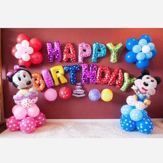 ミッキーミニーの立体 誕生日バルーンセット♡大切な思い出に♡送料無料(キャラクターグッズ)