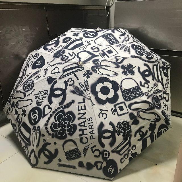 CHANEL(シャネル)の折りたたみ 傘 自動開折り畳み傘 TG001 レディースのファッション小物(傘)の商品写真