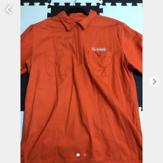 XLARGE - XLARGE シャツ ハーフジップ ワークシャツ