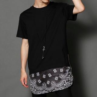ラッドミュージシャン(LAD MUSICIAN)のPUBLIC EYES サイドZIPドッキングバンダナカットソー(Tシャツ/カットソー(半袖/袖なし))
