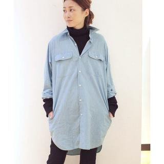 MADISONBLUE - MADISONBLUE CHAMBRAY HAMPTON LONG シャツ