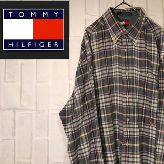 トミーヒルフィガー(TOMMY HILFIGER)の【激レア】90s トミーヒルフィガー  長袖シャツ チェックシャツ BDシャツ(シャツ)