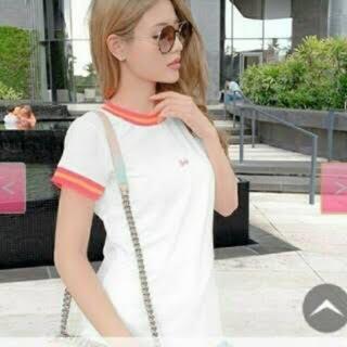 レディー(Rady)のRady ラインTシャツ ホワイト(Tシャツ(半袖/袖なし))