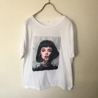 エディットフォールル(EDIT.FOR LULU)のレアデザイン 立体イヤリング 絵画 Tシャツ(Tシャツ(半袖/袖なし))