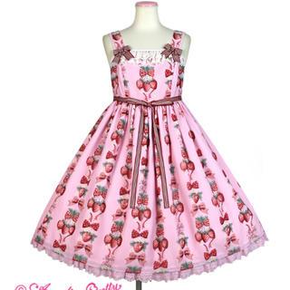 アンジェリックプリティー(Angelic Pretty)の【もか様 10/1までお取置き】strawberry doll セット(ひざ丈ワンピース)