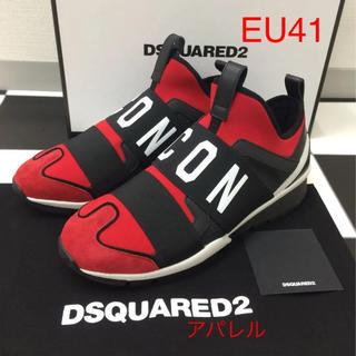 ディースクエアード(DSQUARED2)の新品 EU41 Dsquared2 ディースクエアード ICON ロゴスニーカー(スニーカー)