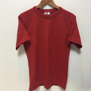 ユニクロ(UNIQLO)のUNIQLO U クルーネックT XS 赤(Tシャツ/カットソー(半袖/袖なし))