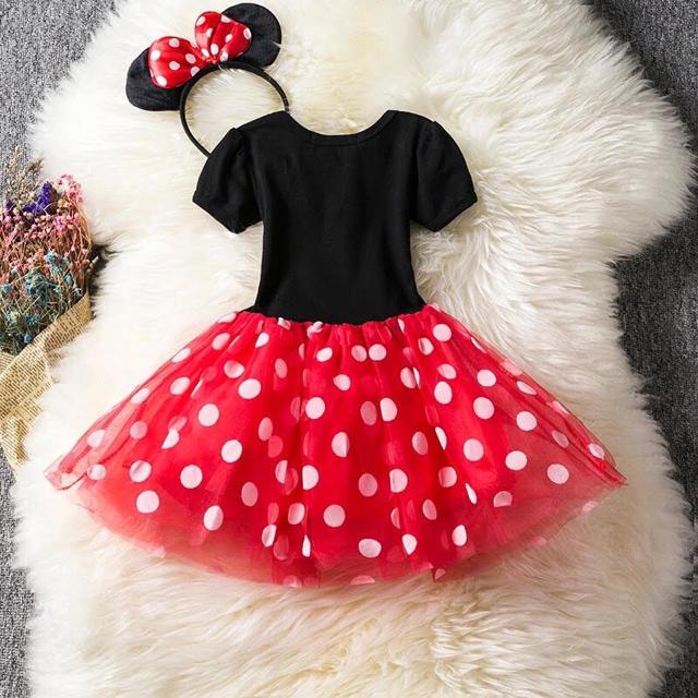 Disney(ディズニー)のミニー  コスプレ ミニー ドレス❤️サイズ100 キッズ/ベビー/マタニティのキッズ服 女の子用(90cm~)(ドレス/フォーマル)の商品写真