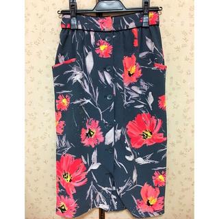 snidel - 花柄 タイトスカート