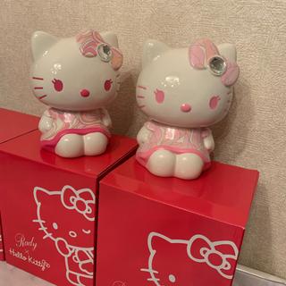 レディー(Rady)のrady キティ コラボ貯金箱ハートマーブルピンク2点セット (キャラクターグッズ)