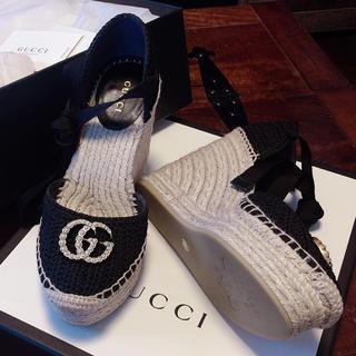 Gucci - GUCCI ウェッジソールサンダル