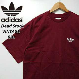 adidas - 538 希少 デッドストック 80s 銀タグ アディダス 胸刺繍 Tシャツ