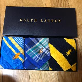 Ralph Lauren - ラルフローレン タオルハンカチ3枚
