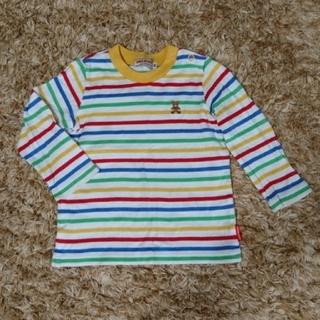 ミキハウス(mikihouse)のミキハウス 長袖 Tシャツ ロンT ボーダー 80㎝(シャツ/カットソー)