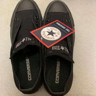 CONVERSE - コンバース スニーカー ブラック 黒 新品タグ付き 24cm