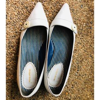 ブリジットバーキン(Bridget Birkin)のブリジットバーキン☆  白 本革 フラットシューズ☆(ローファー/革靴)