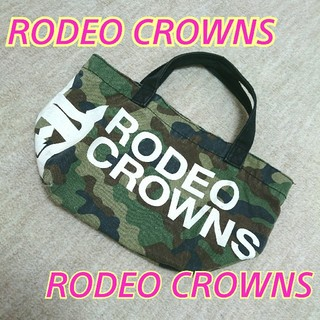 RODEO CROWNS WIDE BOWL - 【値下げ済】ロデオクラウンズ★カモフラ★ミニトート★Rady*リエンダ*マウジー