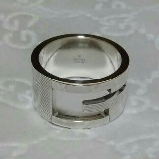 グッチ(Gucci)の20号表記 GUCCI Gリング ブランデッド ワイド リング 指輪 19号(リング(指輪))