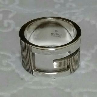 グッチ(Gucci)の16号表記 GUCCI Gリング ブランデッド ワイド リング 指輪 15号(リング(指輪))