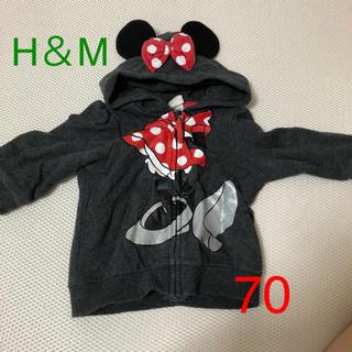 エイチアンドエム(H&M)のH&M Disney コラボ ミニーパーカー 70 裏起毛(トレーナー)