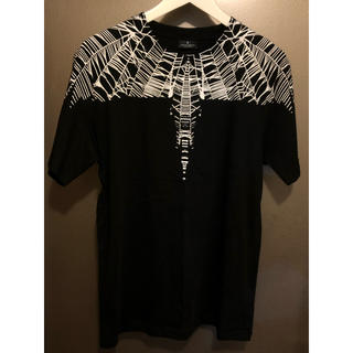 マルセロブロン(MARCELO BURLON)のマルセロバーロン ウイング Tシャツ 黒白 XS 美品 送料無料(Tシャツ/カットソー(半袖/袖なし))