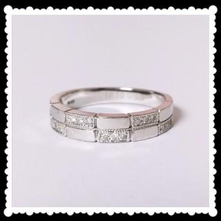 プラチナ ダイヤモンド リング 12号 Pt900 0.12ct ダイヤ(リング(指輪))