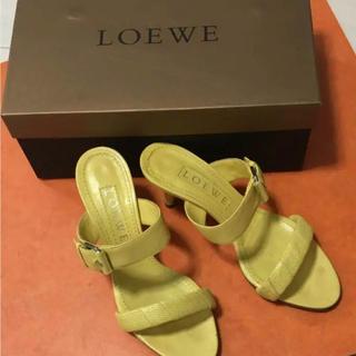 ロエベ(LOEWE)の【値下げしました】ロエベ サンダル 美品、イタリア製、23.5センチ、正規品》(サンダル)