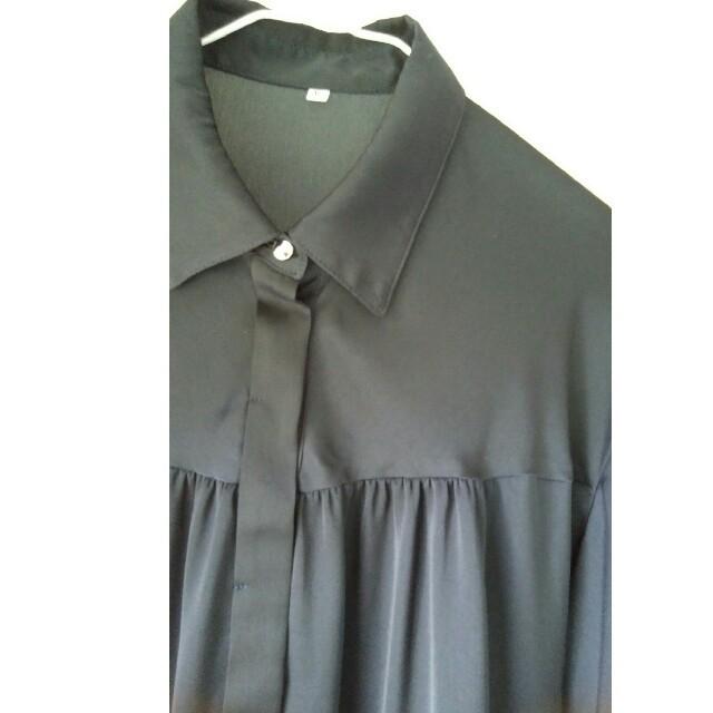 DHC(ディーエイチシー)のネイビーブラウス レディースのトップス(シャツ/ブラウス(長袖/七分))の商品写真