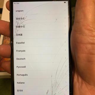 Apple - ドコモiphone7 PLUSジャンク画面割れとカメラ不良