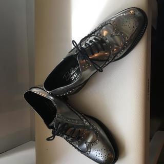ディエゴベリーニ(DIEGO BELLINI)のBellini 1951 ウィングチップ シルバー 23センチ(ローファー/革靴)