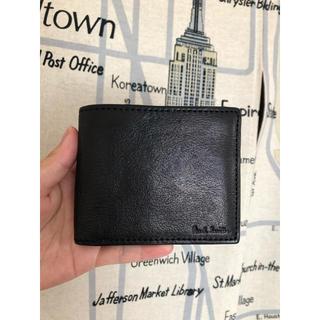 ポールスミス(Paul Smith)のポールスミス マルチストライプ 二つ折り財布 ブラック メンズ(折り財布)