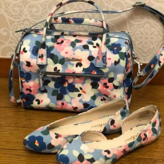 キャスキッドソン(Cath Kidston)の美品 Cath kidston パンジー バッグと靴(ハンドバッグ)