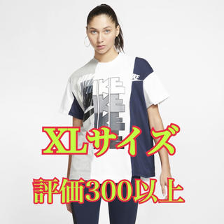 ナイキ(NIKE)のsacai hybrid tee 紺 XL(Tシャツ(半袖/袖なし))