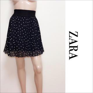 ザラ(ZARA)のZARA ドット プリーツ スカート♡H&M ベルシュカ ロイヤルパーティー(ミニスカート)