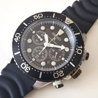 セイコー(SEIKO)のセイコー ソーラー ダイバーズ200m SSC021P1クロノグラフ 黒/黄色(腕時計(アナログ))